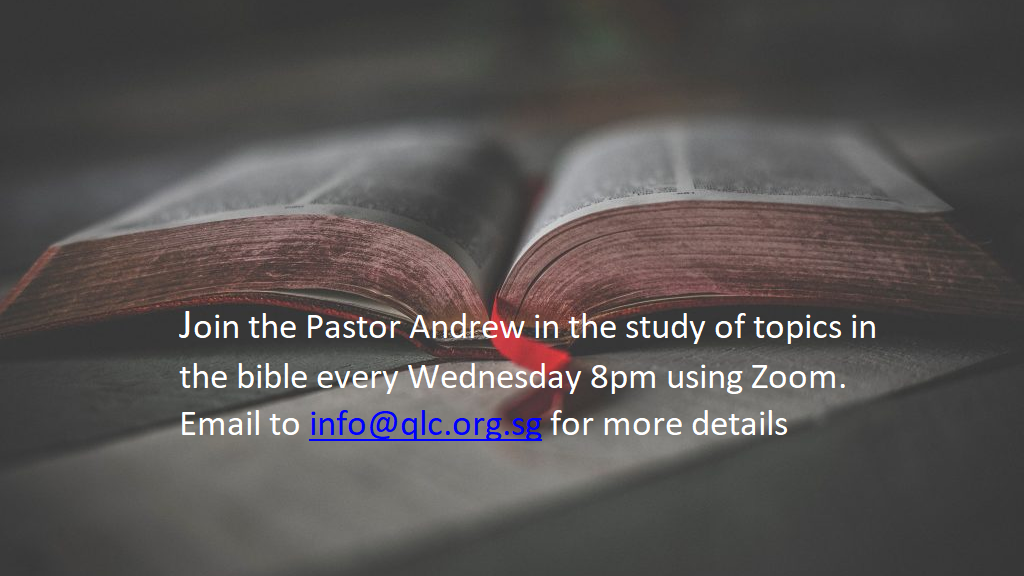 Bible Study every Wed night