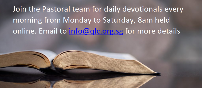 Daily Devotionals from Mon to Sat