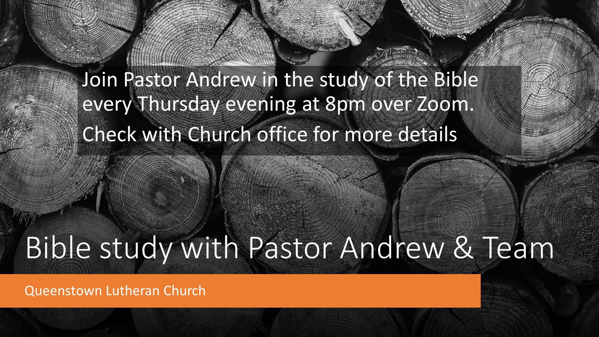 Bible study with Pastor Andrew
