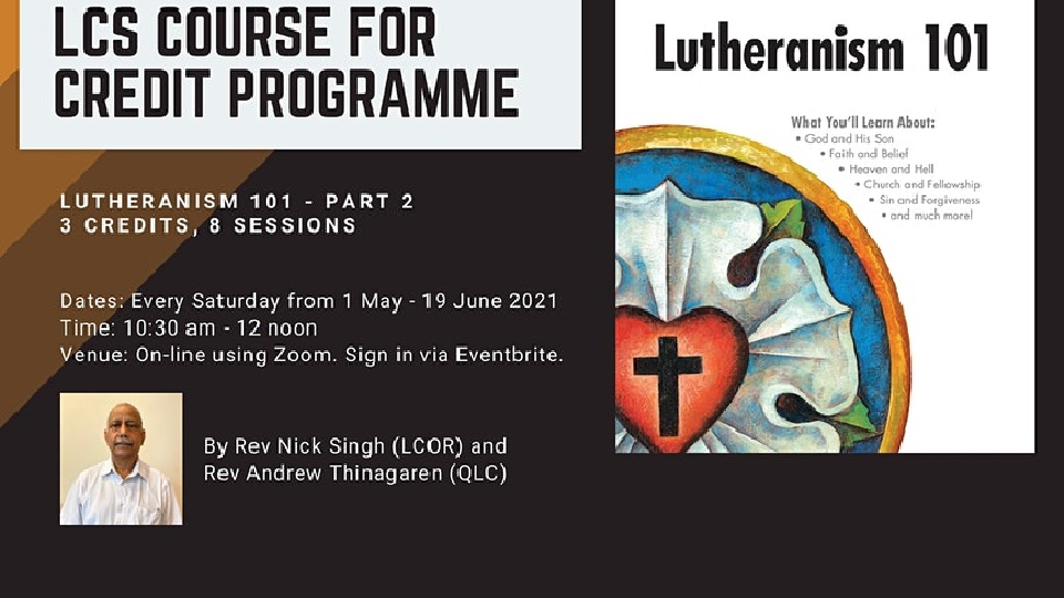 LCS Lutheranism 101 part 2